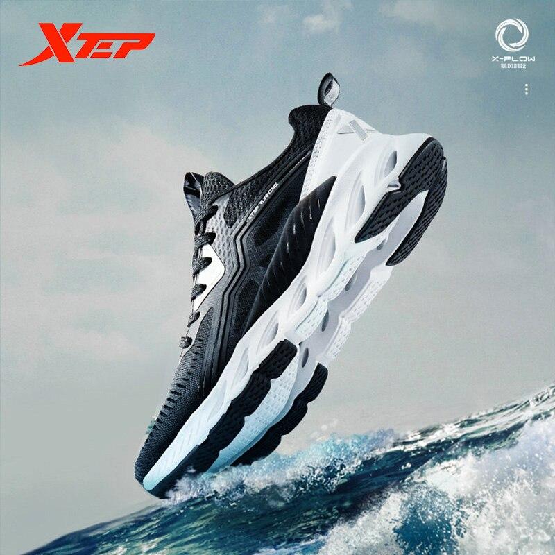 Xtep X-FLOW, женская обувь для бега, дышащий светильник, вес, сетчатая обувь для бега, кроссовки для женщин, 881218119600