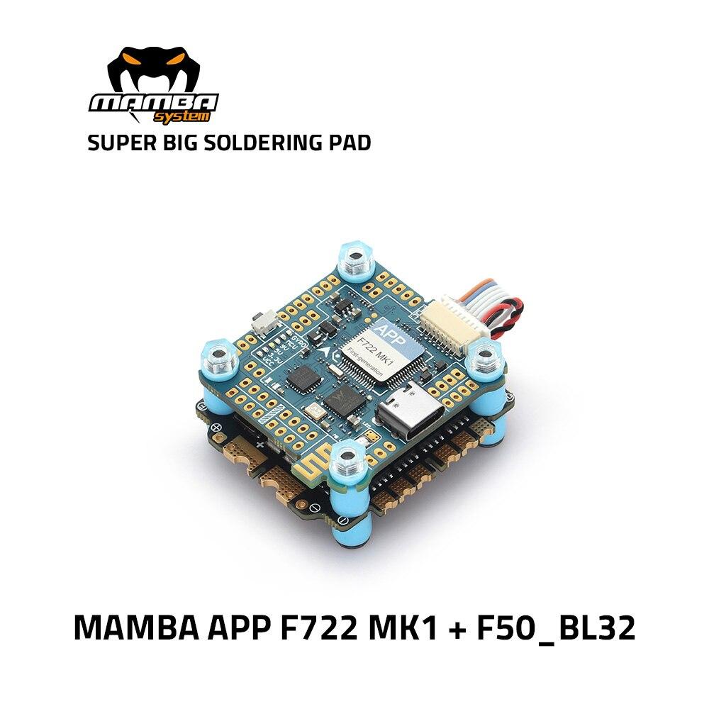 Diatone مامبا F722 APP WIFI وحدة تحكم في الطيران كومة F722S 50A 3-6S 32Bit BLHeli32 50A ESC 6S 4 في 1 Dshot1200 فرش ESC