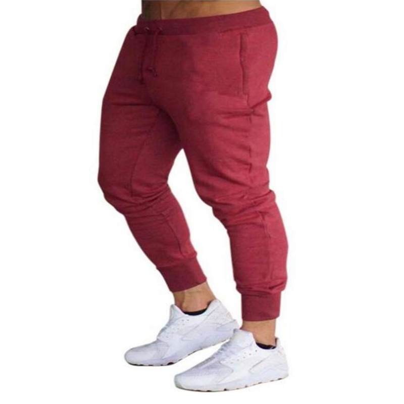 Новые спортивные штаны для бега, мужские спортивные брюки, штаны для бега, штаны для спортзала, мужские джоггеры, хлопковые тренировочные шт...
