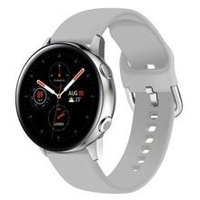 Soft Silicone Watchband for Samsung Galaxy Watch Active 2 40mm 44mm Sport Waterproof Women Men Bracelet Band Strap