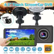 KROAK 1080P 4,5 zoll FHD Auto DVR Schwarz Dashboard Nachtsicht Kamera Video berühren screen Recorder Loop Recording Mini dash