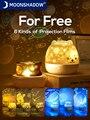 Звездный прожектор, светильник Ной музыкальный светодиодный светильник для детей, USB зарядка/вращающийся/петь, Проектная лампа для спальни, вечевечерние MOONSHADOW
