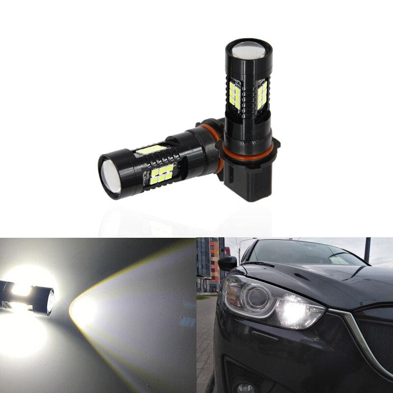 Se adapta para Mazda CX5 CX-5 2013 de 2014, 2015 2 uds Led P13W SH23W proyector luz Led de conducción diurna bombillas CANbus Auto lámpara