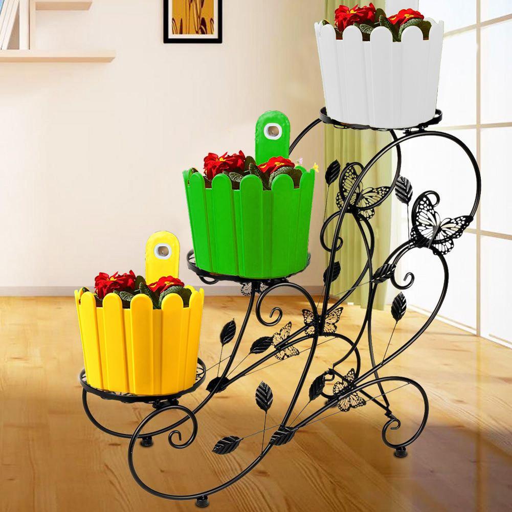 Maceta 3 uds planta jardinera colgante cestas soportes interior y exterior jardín balcón hogar Decoración pequeña valla Funky planta colgador