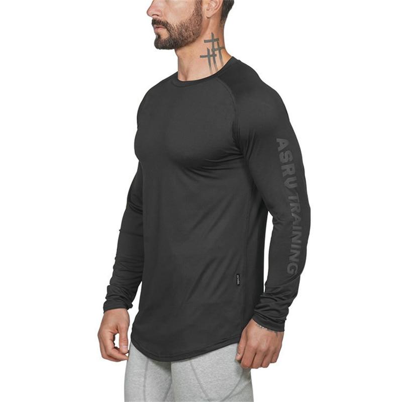 Camisetas de Fitness para hombre 2020, ropa de gimnasio, ropa deportiva para correr, camisas de entrenamiento para hombre, camisetas de manga larga Dry-Fit para hombre