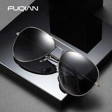 FUQIAN Klassische Pilot Männer Sonnenbrille Polarisierte Vintage Metall Ray Sonnenbrille Frauen Spiegel Farben Fahren Männlichen Shades UV400