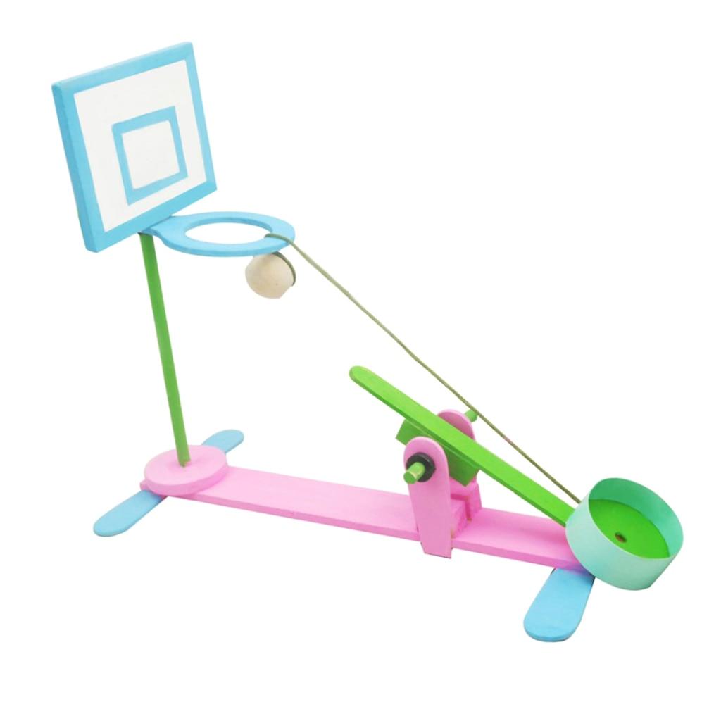 Rompecabezas de madera 3D, Mini máquina de tiro, construcción de madera, Kit de construcción para niños, DIY, juguete artesanal, rompecabezas, juego de modelo de montaje