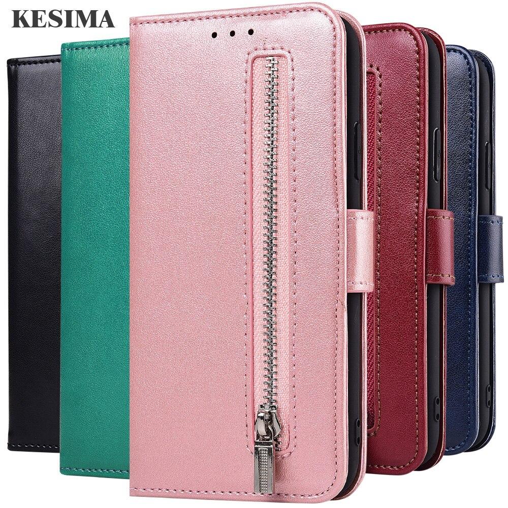 Zipper Cover For On Redmi Note 8 7 6 5 3 Pro 8T 7S 4X 4 5A Prime Capa Wallet Case For Xiaomi Redmi 8A Dual 8 7A 7 6A 6 5A 5 4A
