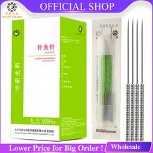 Aiguilles dacupuncture stériles de 500 pièces avec laiguille dacupuncture jetable de tube beaucoup de taille choisie