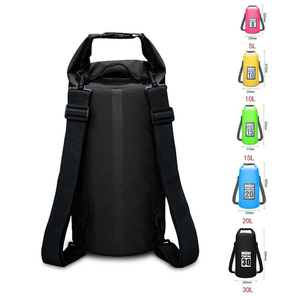 5L/10L/15L/20L Waterproof Bags Dry Bag PVC Waterproof Backpack Sports Bag Rafting Swimming Backpacks Impermeable Dry Bag недорого