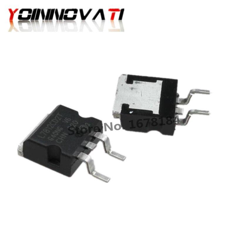 10 Uds L7812CD2T-263 L7812 7812 L7812C2T TO263 12V SMD tres-terminal regulador