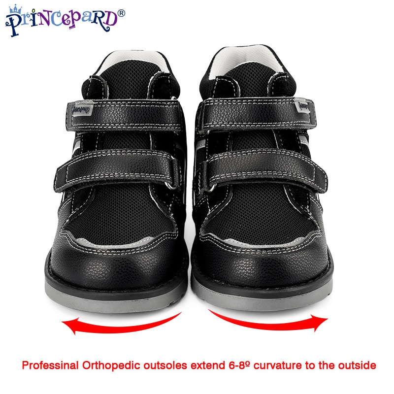 Princepard Children Orthopedic Sneakers for Flatfeet Ankle Support Kids Sport Running Shoes with insole orthopedic Boys Girls enlarge