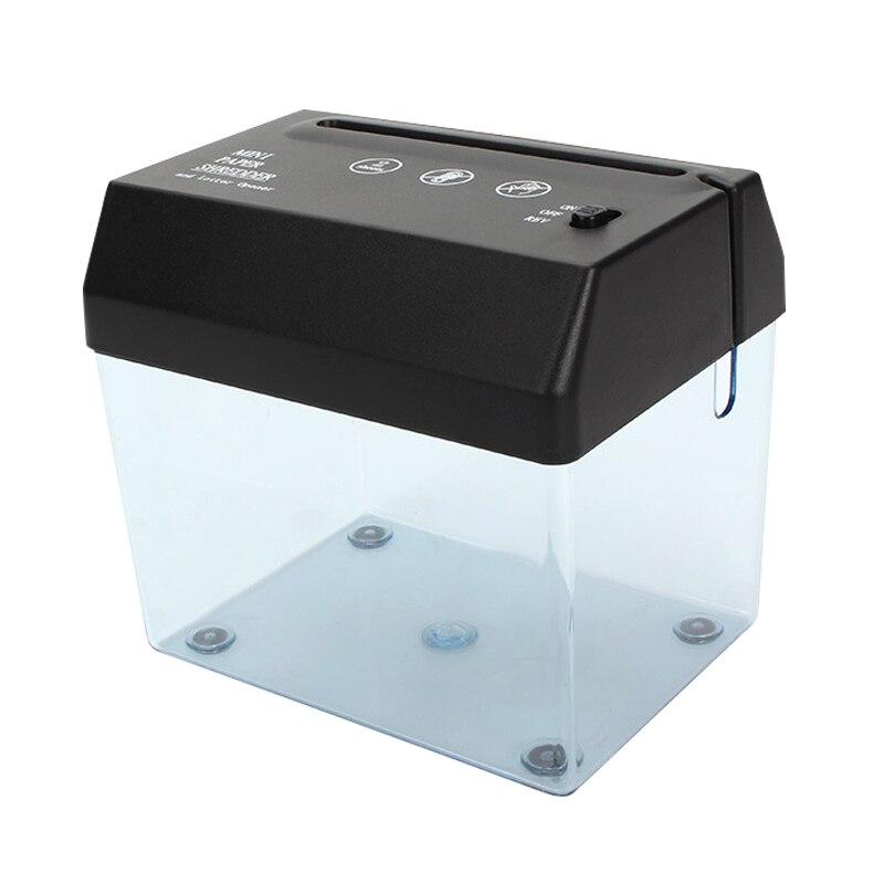 Nouvelle Mini Machine de découpe de Documents de papier de broyeur électrique chaude A6Crusher avec louvreur de lettre pour le bureau à la maison SMR88