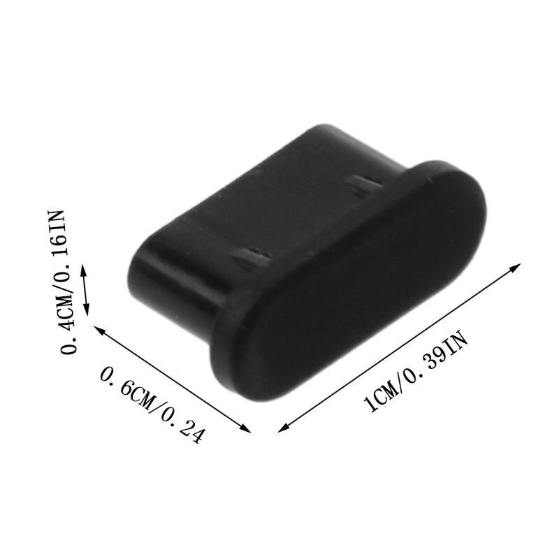 Пылезащитная заглушка USB Type-C для порта зарядки, 5 шт., силиконовый чехол для Samsung, Huawei, аксессуары для смартфонов X6HB-4