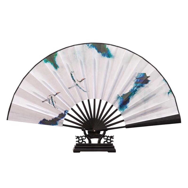 Abanico plegable clásico de estilo chino Para hombre y mujer, ventilador de...