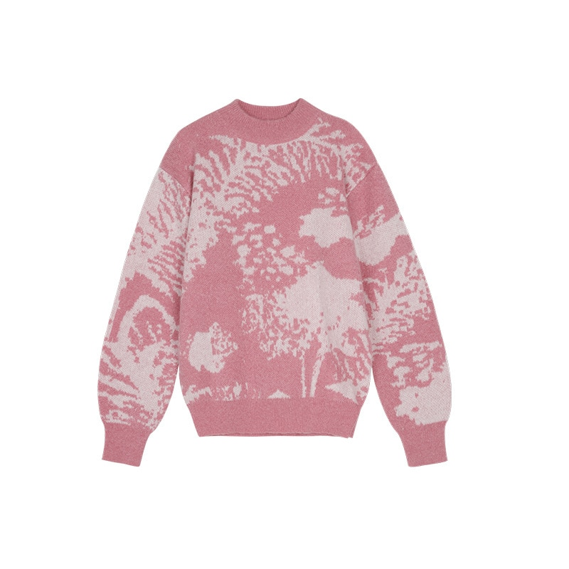 Womens Loose Fit Pullovers Sweater Long-Sleeve Crew Neck Casual Creative Graffiti Pullover Tops enlarge