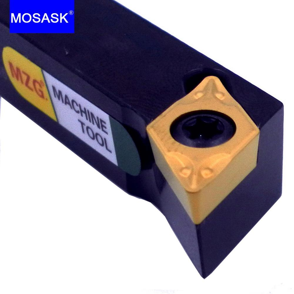 MOSASK Metal Cutters SDQCL Toolholders 12MM 16MM Machining Boring Bar CNC Lathe External Turning DCMT 0702  11T3 Tool Holders