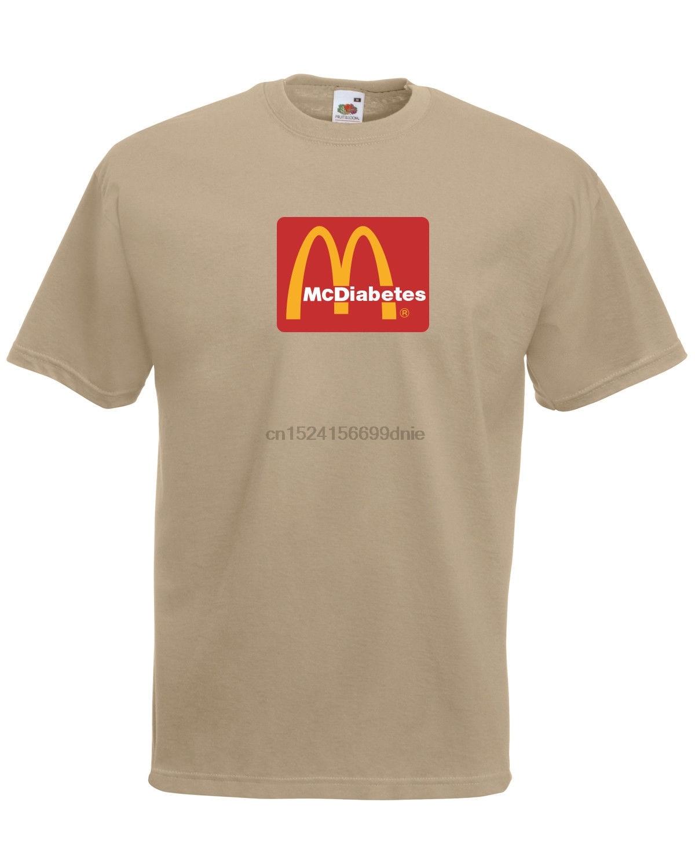 McDiabetes McDonalds fuente logotipo parodia calidad gráfica tee camiseta unisex para hombre