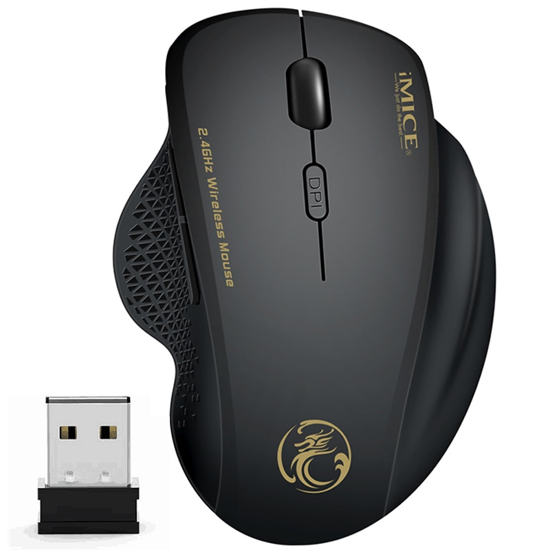Фото - Wireless Mouse Ergonomic Computer Mouse PC Optical Mause with USB Receiver 6 Buttons 2.4Ghz Wireless Mice 1600 DPI for Laptop canyon2 4ghz wireless optical mouse with 4 buttons dpi 800 1200 1600 1 additional cover penguin