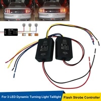 strobe controller flasher module 2pcs universal 12v mk 288 flash cntrolleor for 3 led dynamic turning light taillight control