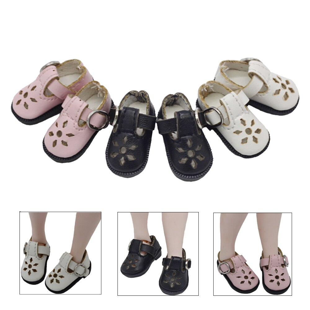 Botas de muñeca BJD de 3,2 cm para muñeca Blythes Azone, 1/8 Mini zapatos de cuero encantadores, accesorios para botas de muñecas articuladas 1/6