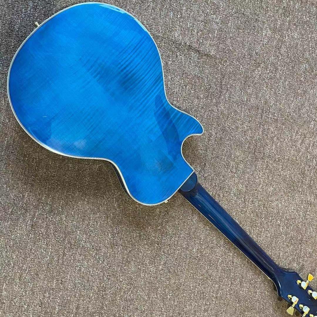 Custom Electric Guitar.Blue color Tiger flame maple top gitaar.high quality pickups.handmade 6 stings guitarra.mahogany body. enlarge