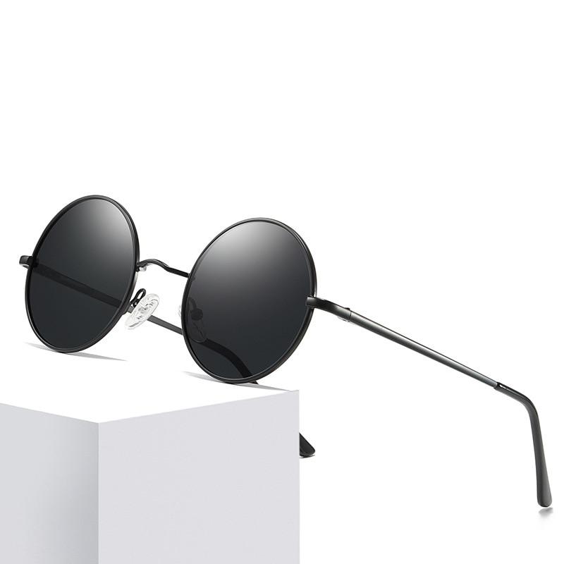 HEISKING 2021 Fashion Round Men Women Sunglasses HD Polarized UV400 Lens Eyewear Alloy Vintage Sun G