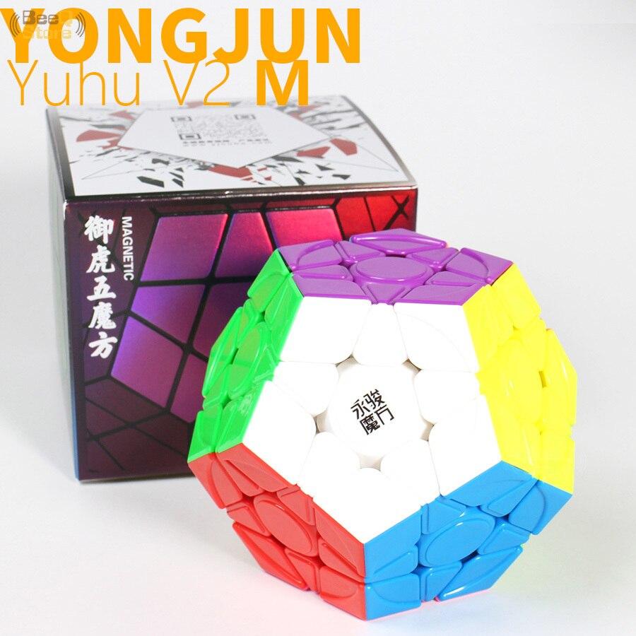 Yongjun Yuhu v2 M المغناطيسي megaminted Magent ميجا مكعب 3x3 ماجيك سرعة مكعب 3x3x3 YJ لغز البنتاغون كوبو magico الاطفال اللعب