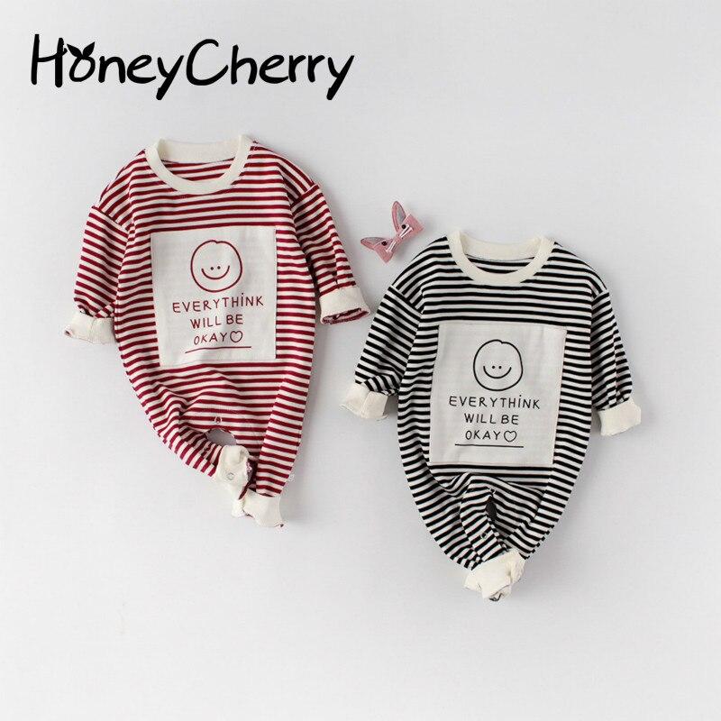 2020 printemps bébé fille barboteuse bébé une pièce vêtements garçons et filles bébé enfants à manches longues relié Creeper