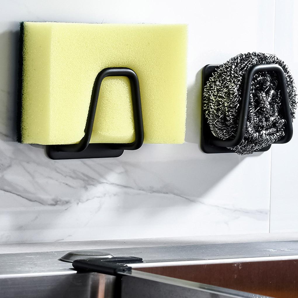 Multifunction Sink Sponge Drain Rack Home Storage Holder Organizer Stainless Steel Sponges Holder Kitchen Sink Organizer