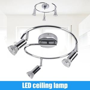 3 Spot Ceiling Lights Led Lamp Rotatable Gu10 9w Chrome Plated Design For Bedroom Living Room Suspension Luminaire