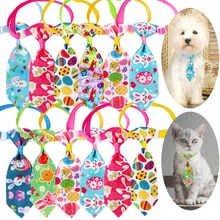 100PCS Easter Dog Accessories Small Dog Ties Rabbit Easter Eggs Pet Dog Cat Puppy Neckties Bowties C