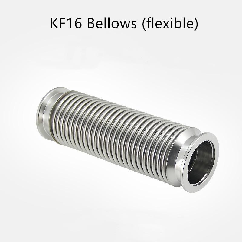 KF16 مرنة عالية فراغ منفاخ 304 مكنسة من الفولاذ المقاوم للصدأ شفة تركيب خرطوم مرن أنبوب أنبوب مرن منفاخ التوسع