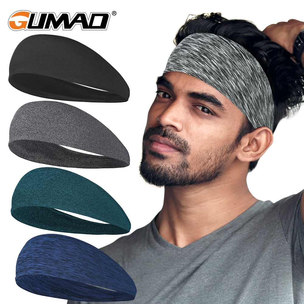 Sport Headband Running Fitness Sweatband Elastic Absorbent Sweat Cycling Jog Tennis Yoga Gym Head Ba
