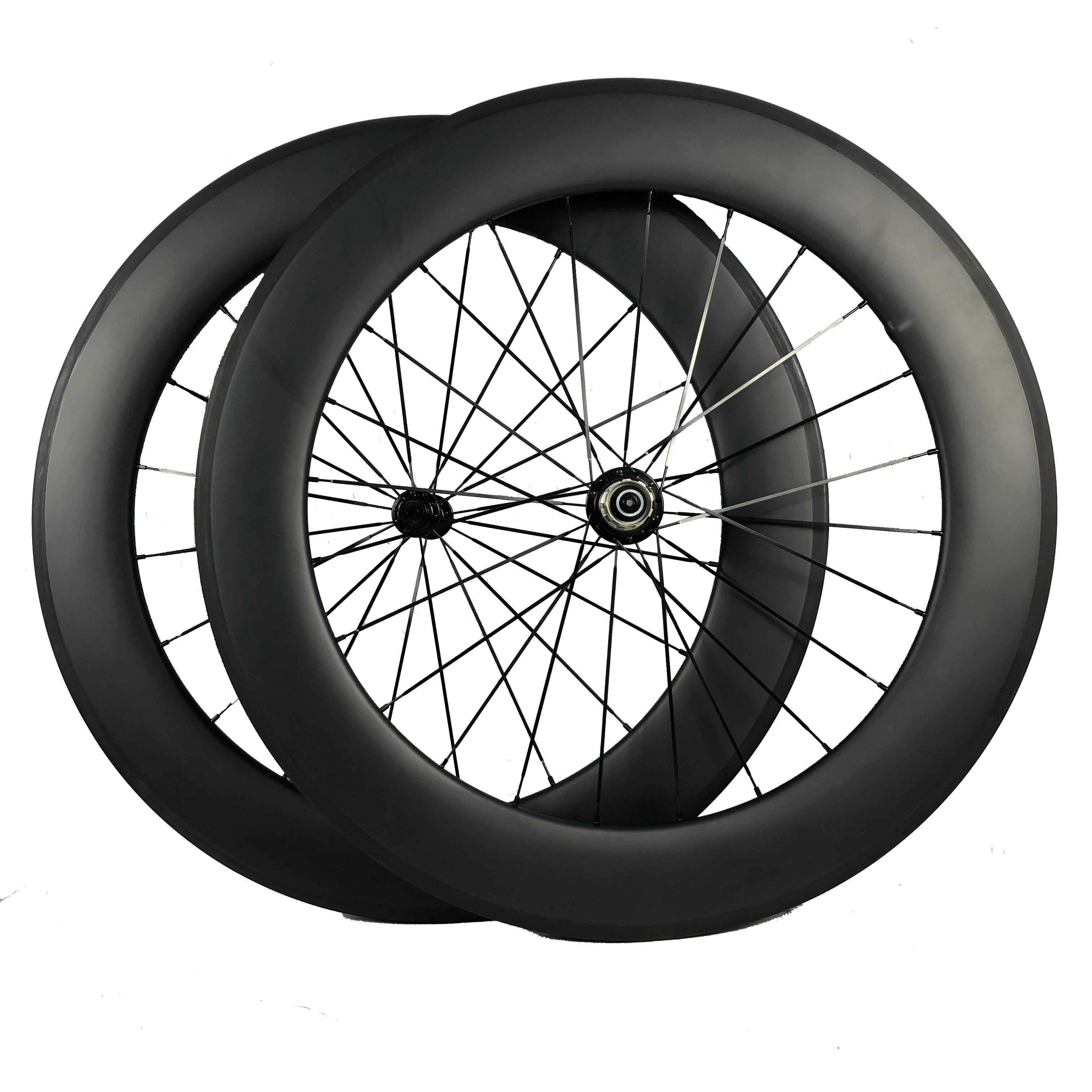 Feito à mão tecnologia carbono rodas de estrada triathlon rodado 700c 25mm de largura u perfil 80mm roda novatec/r36 r13 dt 350 240s hub