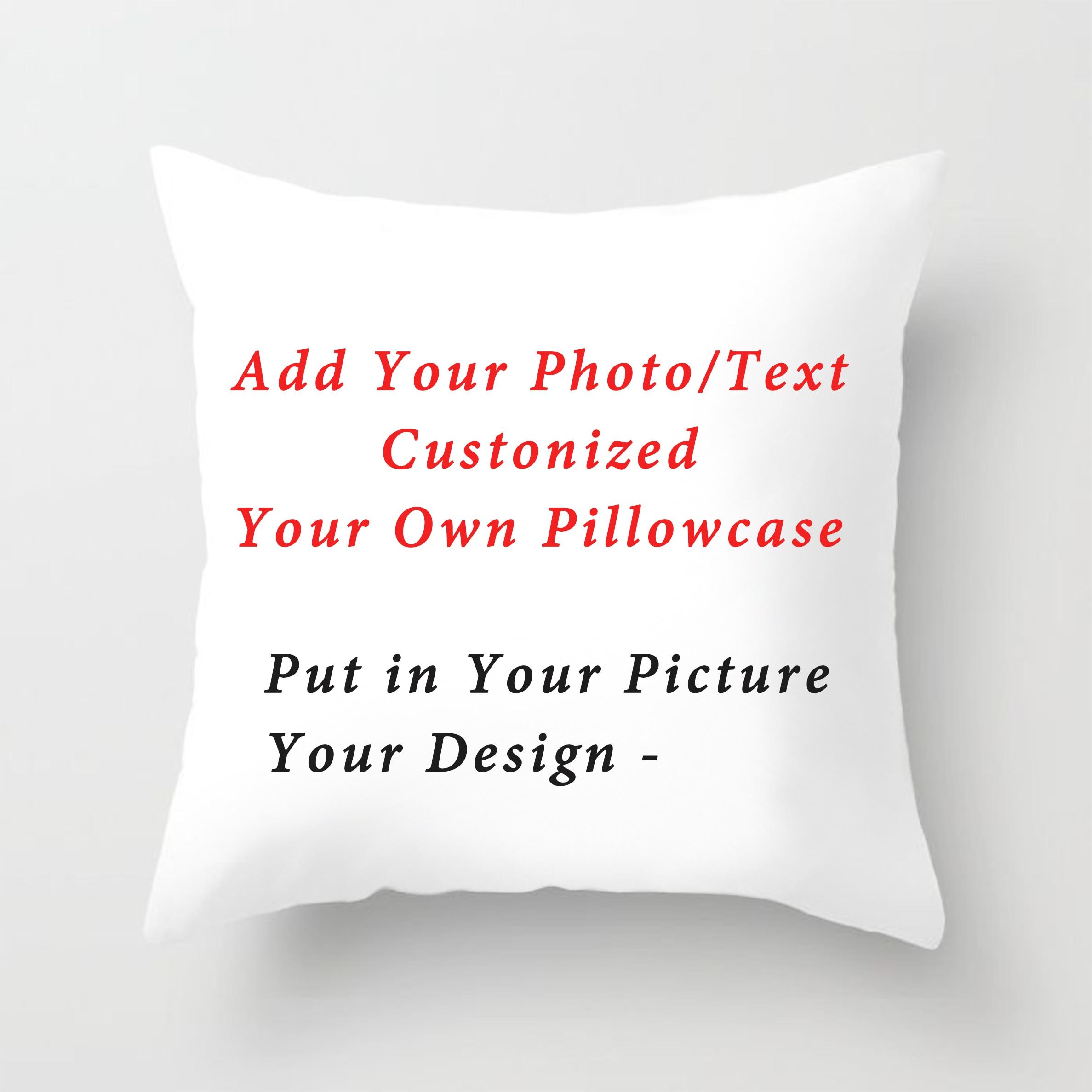Наволочка с рисунком в виде животных, наволочка для подушки на свадьбу, личные фото жизни, подарок на заказ, чехлы на подушки для дома наволо...