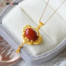 Coolkala – pendentif creux en cire dabeille pour femmes, chaîne de clavicule, nouveau Style chinois rouge