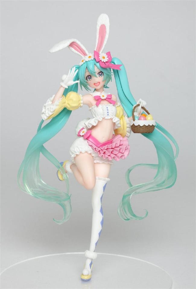 Miku, ropa de primavera, orejas de conejo y hatsune Soundscapital, caja organizada a mano, marionetas, marionetas