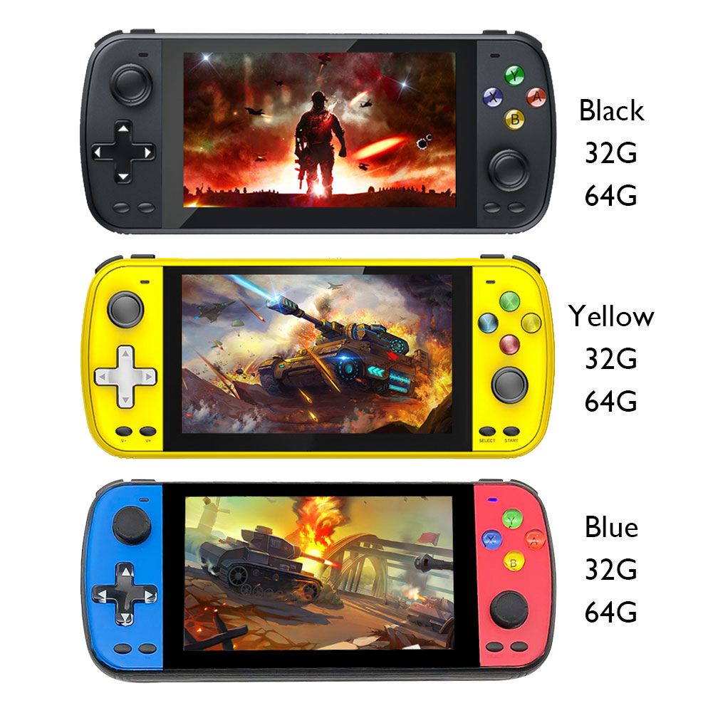 Handheld Game Console 5.1inch HD Screen Game Console PS5000 Double Video Gaming Player Built-in 3000+ Classic Game For Kids Gift
