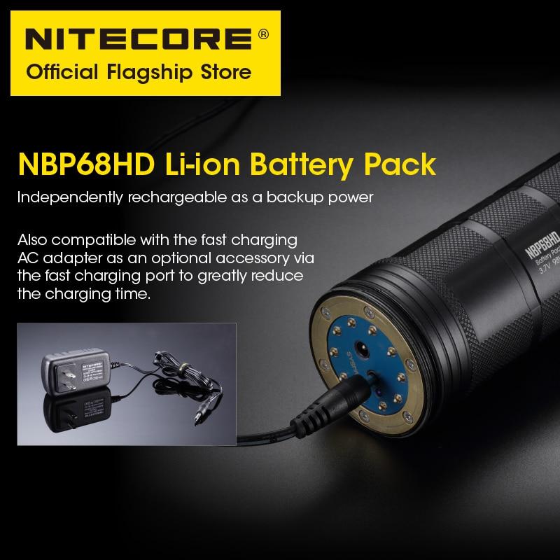 Original NITECORE TM39 5200 Lumens LED Rechargeable Flashlight Beam Throw 1500 m Powerful Searchlight with NBP68HD Battery enlarge