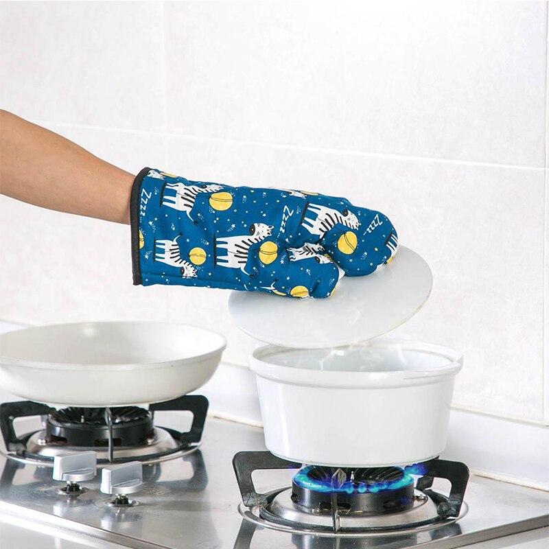 Guantes antideslizantes para horno y microondas, guantes aislantes para cocinar y hornear, Guantes para horno de alta temperatura, guantes de cocina para hornear