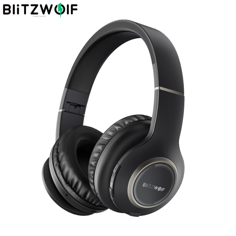 BlitzWolf BW-HP0 اللاسلكية سماعات بلوتوث سماعة طوي الإفراط في الأذن سماعات مع ميكروفون للكمبيوتر المحمول الهاتف Mp3