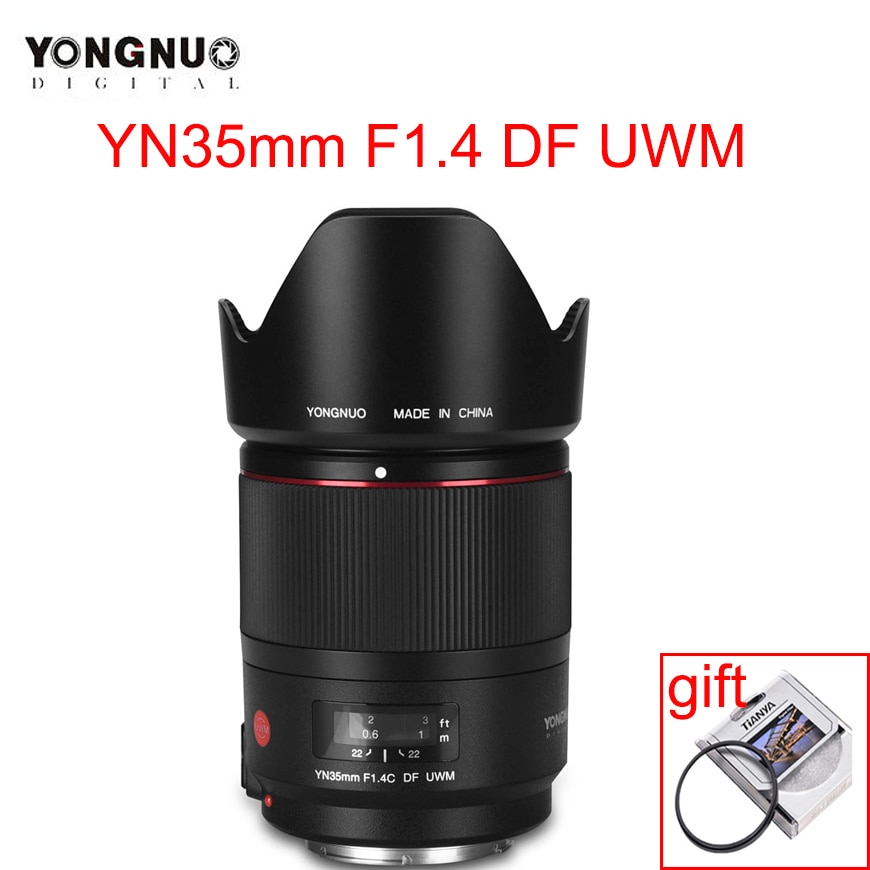 YONGNUO YN35mm F1.4C DF UWM كاميرا عدسة AF MF 35 مللي متر F1.4 موجات فوق صوتية المحرك واسعة زاوية رئيس عدسات لكاميرات كانون 70D 7D 6D 5D 70D