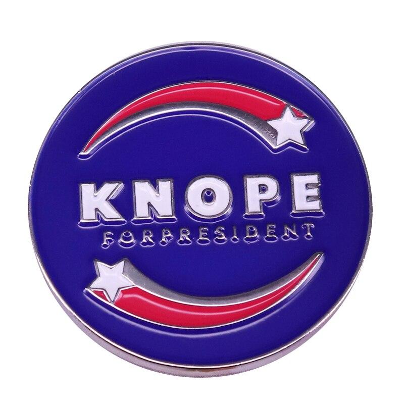 Broche de botón de la campaña presidencial de Knope, regalo para fanáticos de los parques recreativos