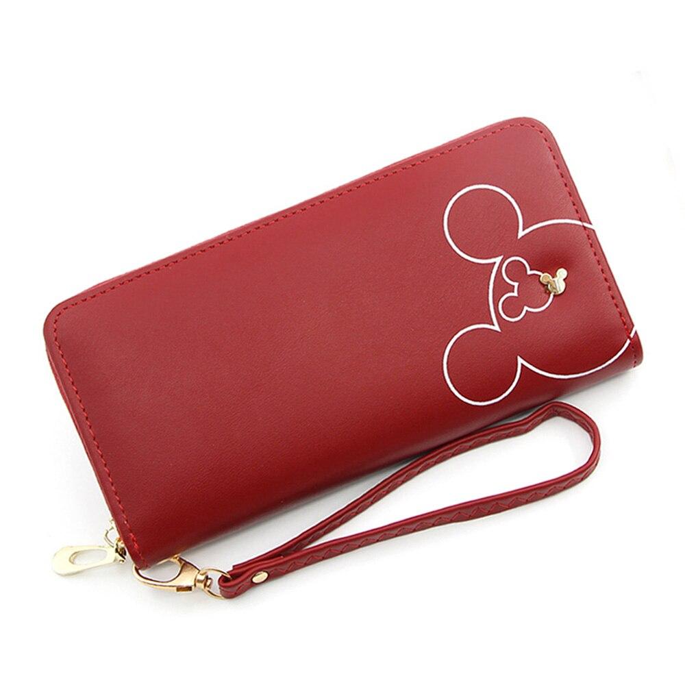 Новый милый дизайн, женский длинный клатч, кошелек, Женский кошелек для денег, карман для телефона, большая емкость, женские кошельки на молнии, красный, розовый