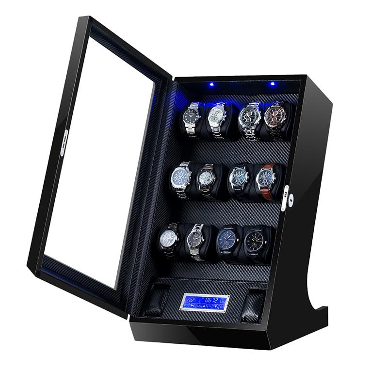 Automatic Watch Winder Box Uhrenbeweger Mechanical Display 12+2 Slots Male watch Automatic