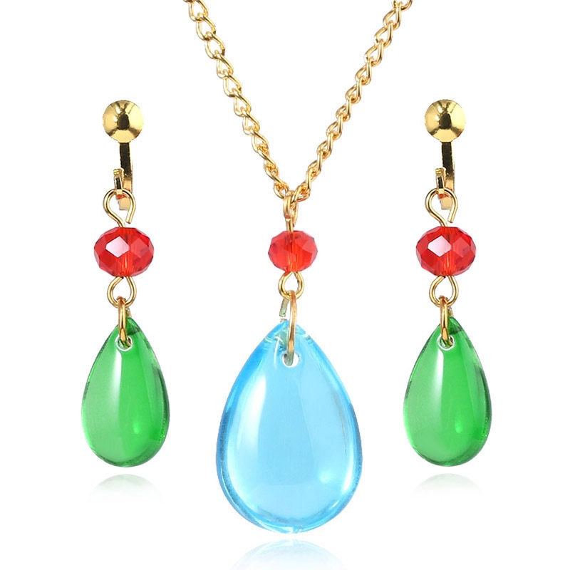 SG New Japan Animado Howl's Moving Castle Necklace Howl Cosplay Costumes Necklace Oorbellen Women Men Fashion Jewelry Gift