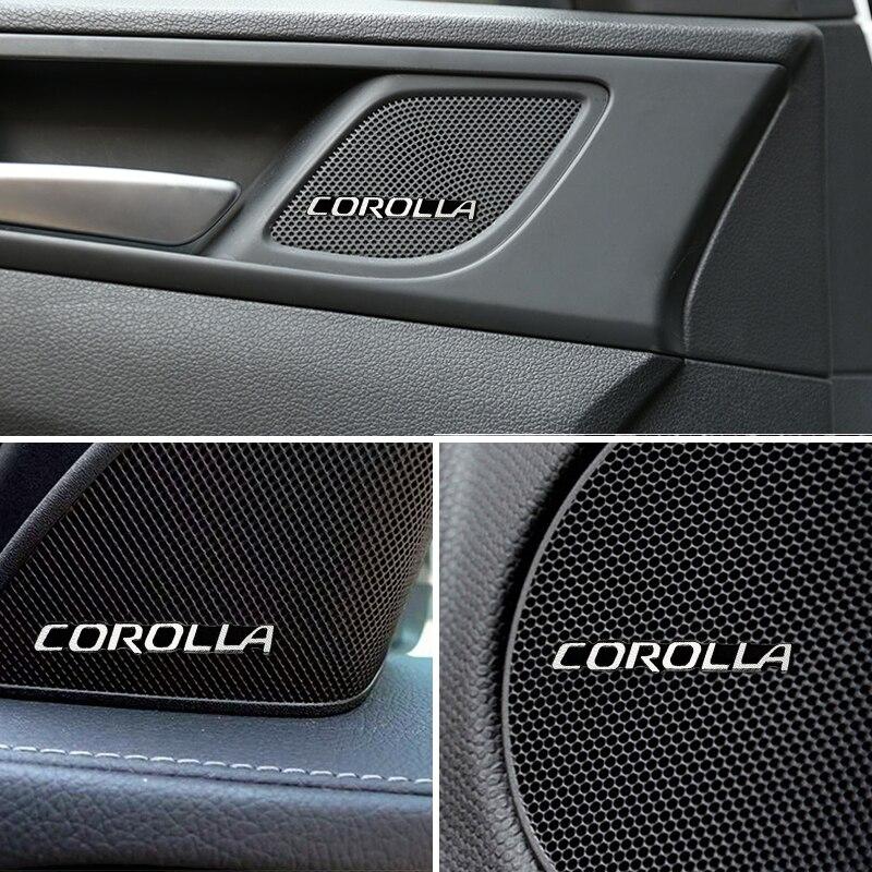 10 Uds audio coche decorar 3D aluminio insignia emblema pegatina estilo para Toyota Corolla para coches