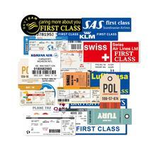 30Pcs Grappige Air Tickets Stickers Reizen Boarding Pass Air Tickerts Sticker Decals voor Koffer Laptop Bagage Auto 100% Vinyl