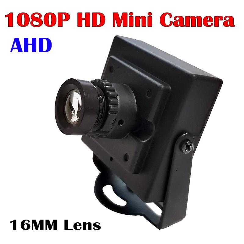 16mm lente 1080P AHD Mini cámara 2MP 1MP micro mini caja Metal interior CCTV cámara de seguridad